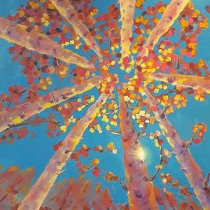 Rising Sun II Oil Painting, 24 x 24