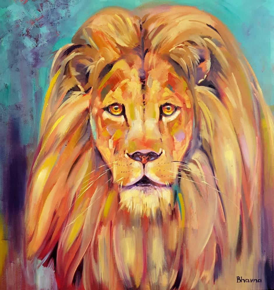 Bhavna Misra Lion Portrait