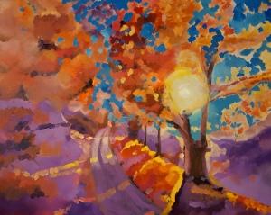 Rising Sun, 24 x 30, Oil