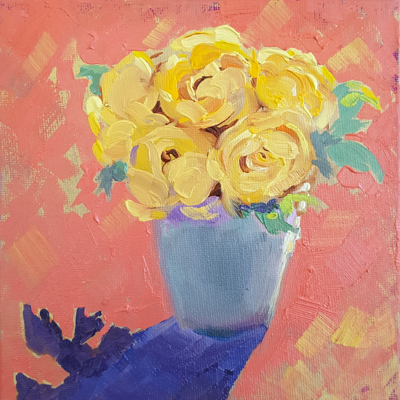 """Golden Celebration Roses"""" – Colorful Abstract"""