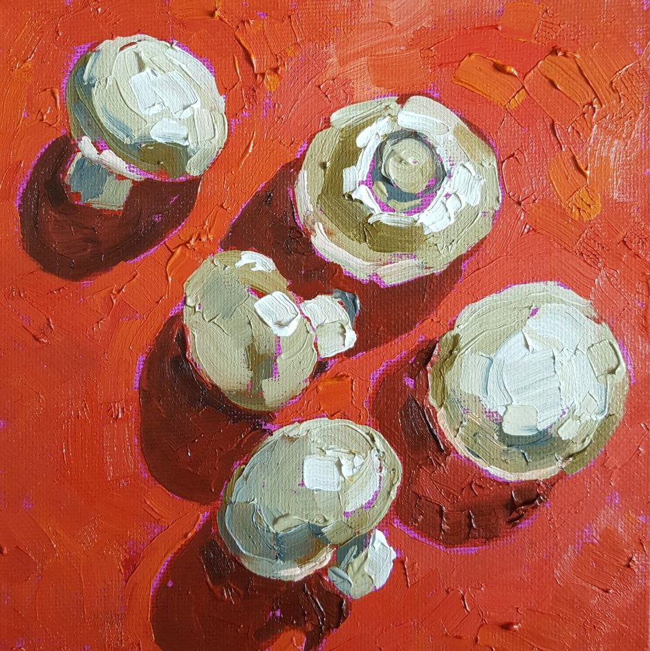 Bhavna Misra Oil Painting Mushrooms 2017