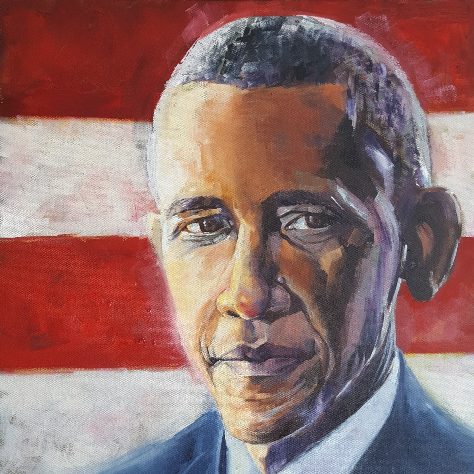 Obama Potrait Bhavna Misra Oil 2017