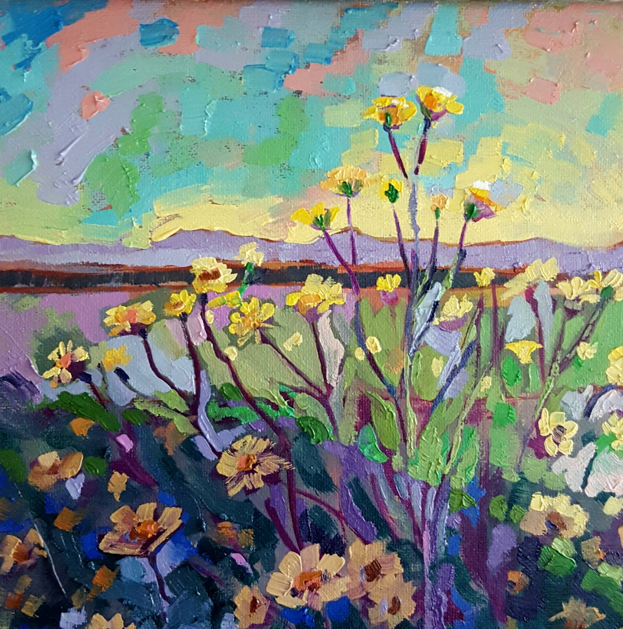 "Superbloom"" – Colorful Expressionistic Oil Painting by Artist ..."