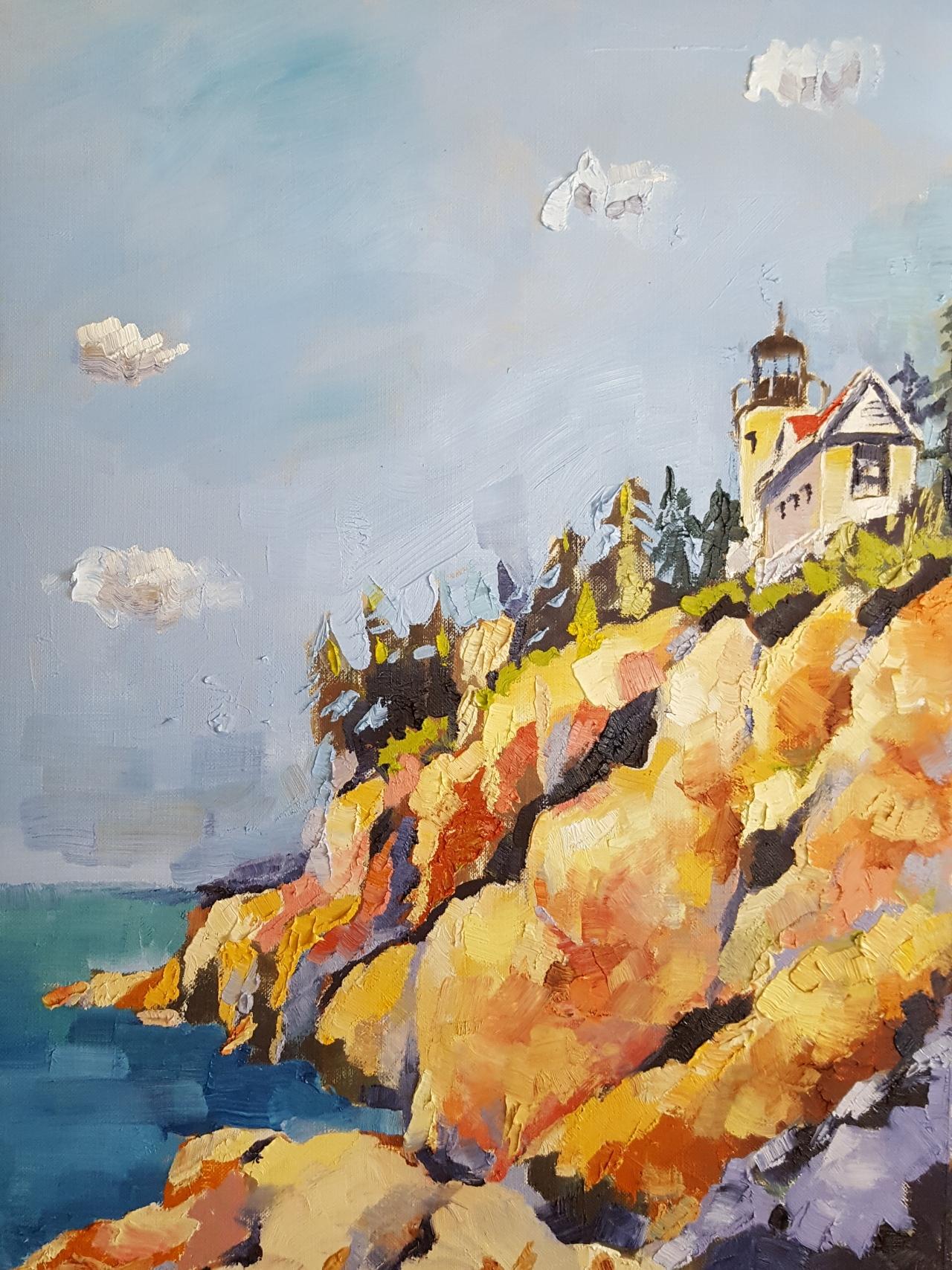 """Acadia National Park"" – Fine Art Oil Painting by Artist Bhavna Misra | Bhavna Misra"